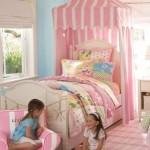 çardaklı kız çocuk odası modelleri pembe renkli tasarımları