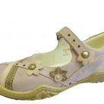çiçekli şık kız çocuk ayakkabı modeli