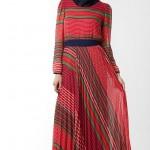 çizgili trend modern Armine Abiye Modeli