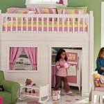 üst katı yatak alt katı oyun odası muhteşem kız çocuk odası 2013 modelleri örnekleri