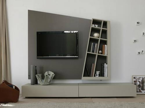 gri asimetrik tv nitesi. Black Bedroom Furniture Sets. Home Design Ideas