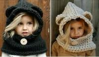 El Örgüsü Şirin Çocuk Şapka Ve Bere  Modelleri