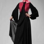 Siyah pembe Armine Abiye Modeli