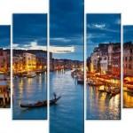 Venedik örneklerinden kanvaz tablo modeli