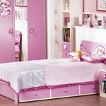 açık pembe renkli medefeli kız çocuk odası modelleri tasarımları