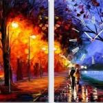 aşk temalı sevgililer kanvas tablo modeli