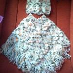 akıllı ipli saçaklı örgü bebek kız çocuk panço modelleri örnekleri