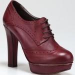 alrai mürdüm renkli bağcıklı hotiç bayan ayakkabı modeli