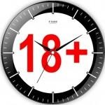 artı 18 simgeli dekoratif duvar saat modeli