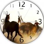 atlı dekoratif duvar saat modeli
