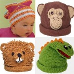 ayı maymun dinazor motifli örgü erek çocuk şapka bere modelleri