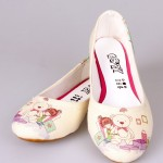 ayıcıklı baskılı kız çocuk ayakkabı modeli