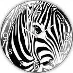baskısı zebra duvar saati modeli