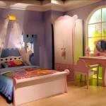 bej pudra renkli şık kız çocuk odası modelleri çeşitleri