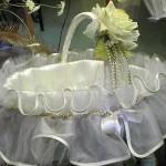 beyaz gül detaylı kına sepeti modeli