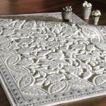 beyaz gri renkli suadiye koleksiyonu sanat halı modeli