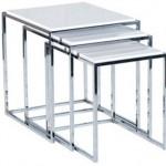 beyaz lake çelik ayaklı şık 2013 zigon sehpa modeli