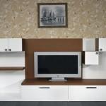beyaz lakeli şık  2013 lcd tv ünite sehpa modeli