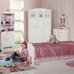 beyaz lakeli yeni istikbal kız çocuk odası modelleri tasarımları