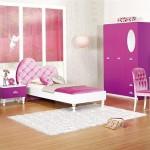 beyaz mor renkli muhteşem kız çocuk odası modelleri