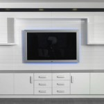 beyaz renkli  2013 lcd tv ünite sehpa modeli