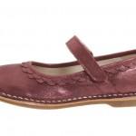 bordo şık kız çocuk ayakkabı modeli