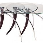 cam yüzeyli yuvarlak çelik ayaklı 2013 zigon sehpa modeli