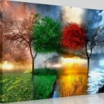 eşsiz renk uyumu doğa resmi kanvas tablo çeşitleri modeli
