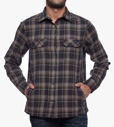 ekose desenli oduncu baskılı yandan cepli erkek gömlek modelleri çeşitleri