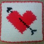 el emeği kalpli oklu çeyizlik lif modeli