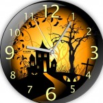 ev manzaralı dekoratif duvar saat modeli
