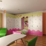 fıstık yeşili beyaz pembe renkli süper kız çocuk odası modelleri örnekleri