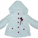 fiyonklu beyaz kapişonlu kışlık kız çocuk mont modeli