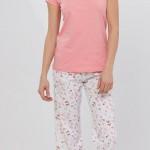 fiyonklu pembe renkli lc waikiki bayan pijama takımı modeli