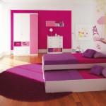fuşya mor renkli kız çocuk odası modelleri tasarımları