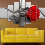 gül resimli büyük ebatlı kanvas tablo modeli