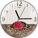 güllü süper dekoratif duvar saat modeli