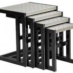 gri yüzeyli siyah ayaklı muhteşem 2013 zigon sehpa modeli