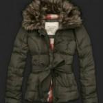 haki renkli yakası kürklü kışlık kız çocuk mont modeli