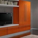 hardal sarısı renkli  2013 lcd tv ünite sehpa modeli