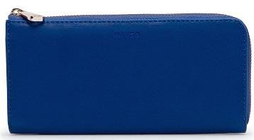 içi renkli mavi mango bayan cüzdan modeli