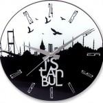 istanbul manzaralı dekoratif duvar saat modeli