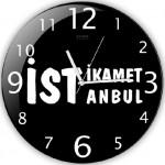 istanbul yazılı duvar saati modeli