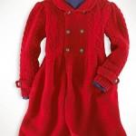 kırmızı kaşe kışlık kız çocuk mont modeli