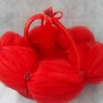 kırmızı karpuz kol kabartmalı kına sepeti modeli