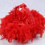 kırmızı kaz tüylü kına sepeti modeli