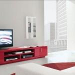 kırmızı lakeli  2013 lcd tv ünite sehpa modeli