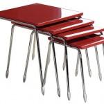 kırmızı lakeli krom ayaklı muhteşem 2013 zigon sehpa modeli