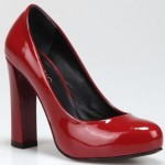 kırmızı renkli ezra hotiç bayan ayakkabı modeli