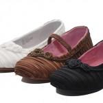 kadife renkli kız çocuk ayakkabı modeli